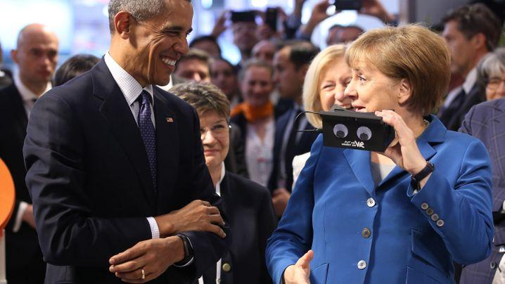 Merkel und Obama: Kräuter, Weißwurst und ein Hoch auf die Raute