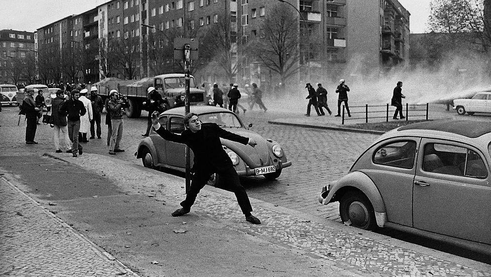 Fotos der Studentenrevolte 1968: Schlagstöcke gegen Pflastersteine