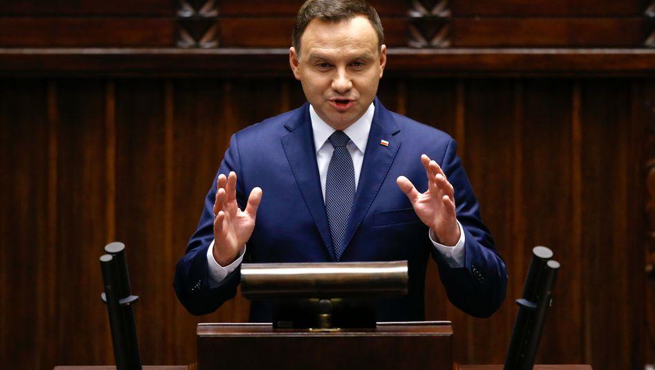 """Polens Präsident Duda: """"Auf keinen Fall ist die Demokratie in Gefahr."""""""