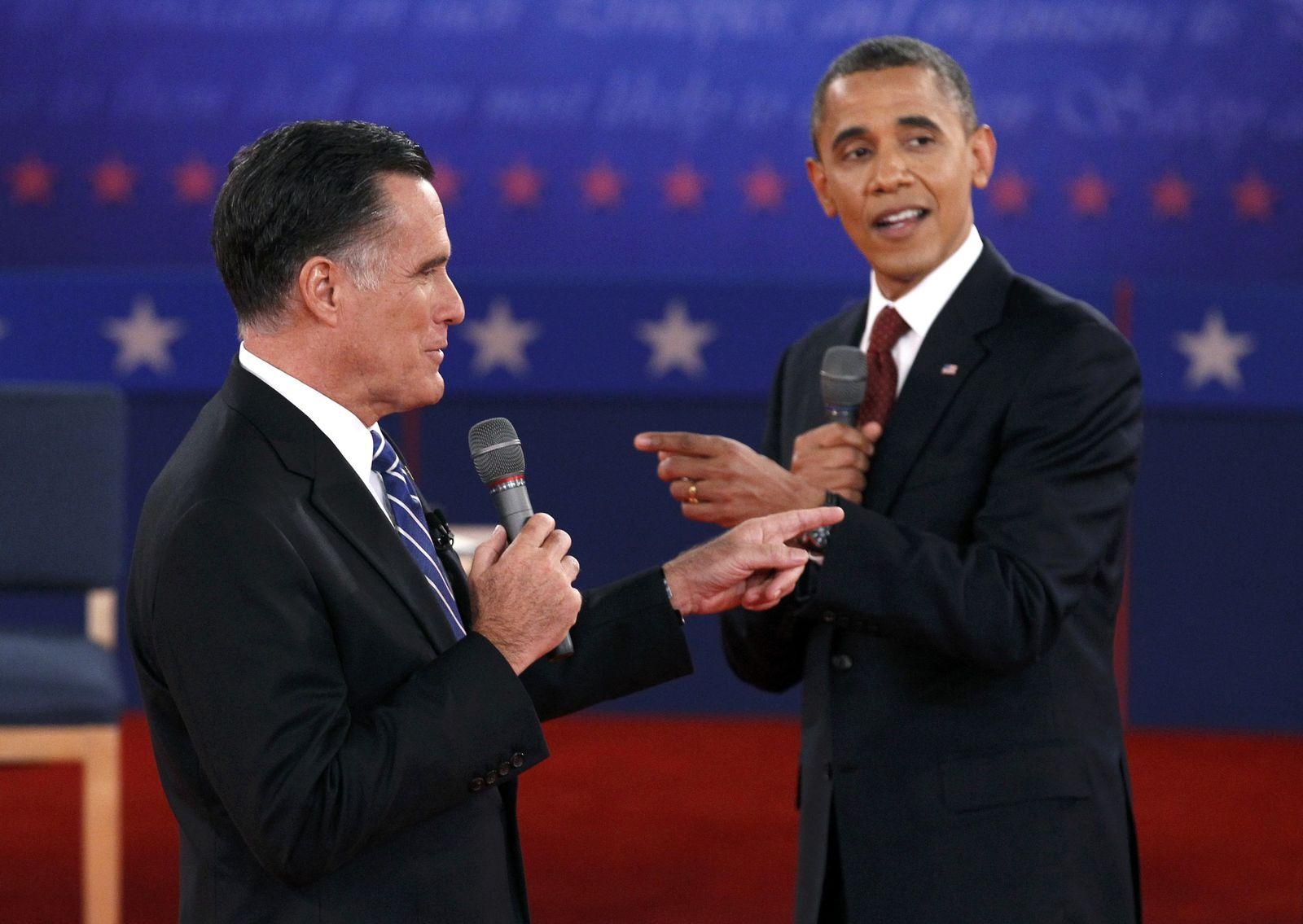 Obama und Romney im US-TV-Duell