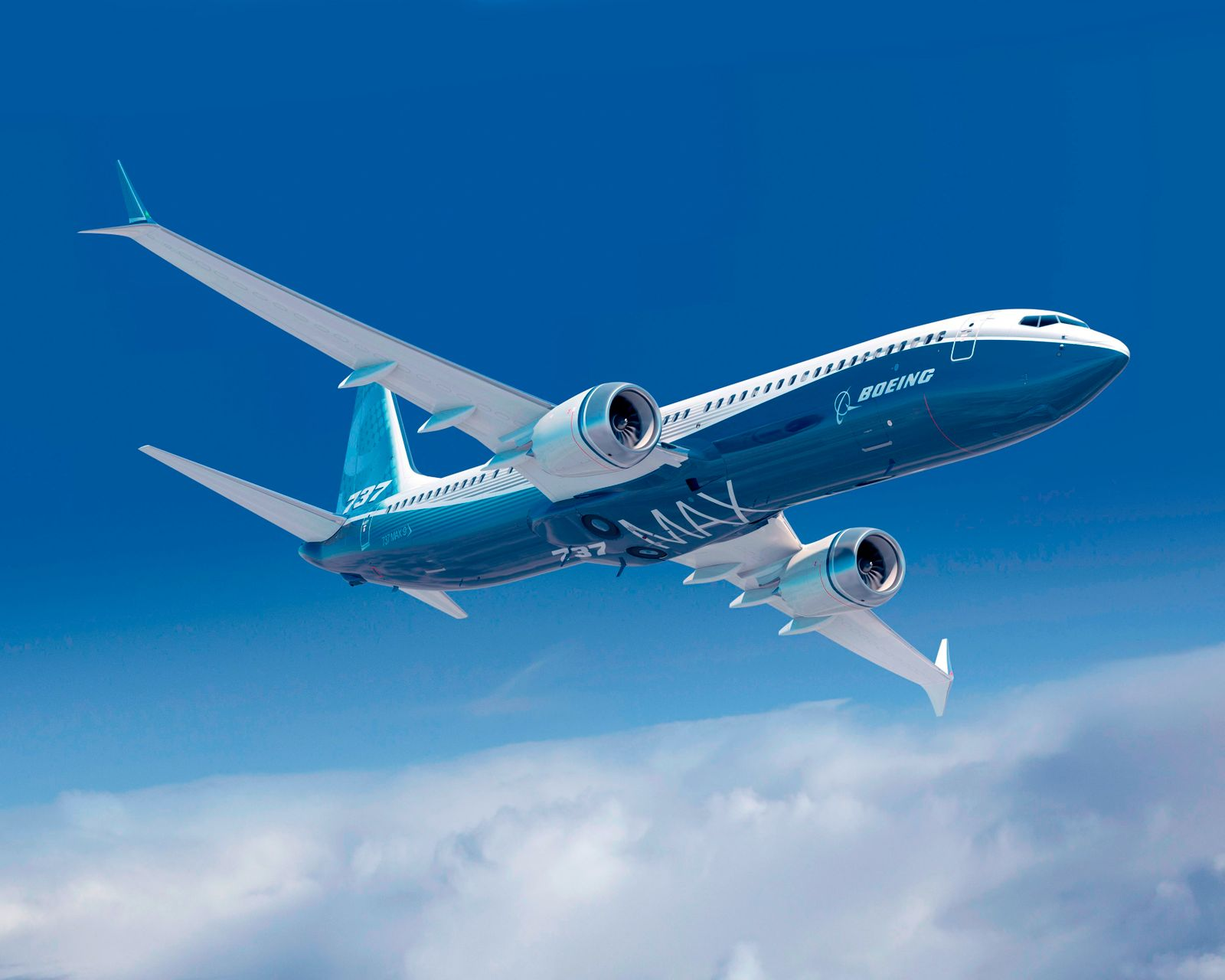 Handout photo of a Boeing 737 MAX airplane