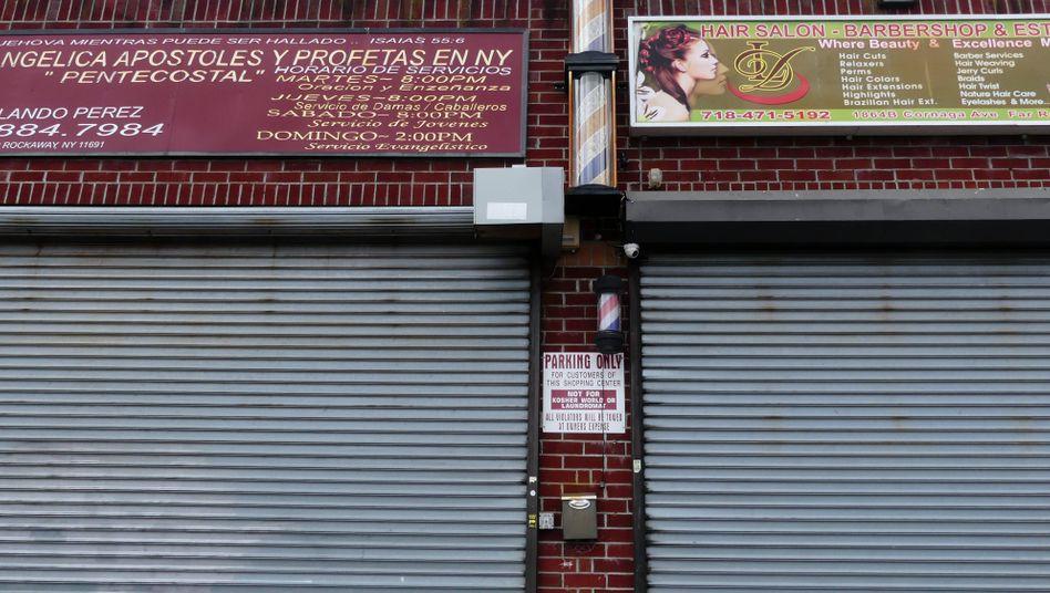 Geschlossene Geschäfte in New York