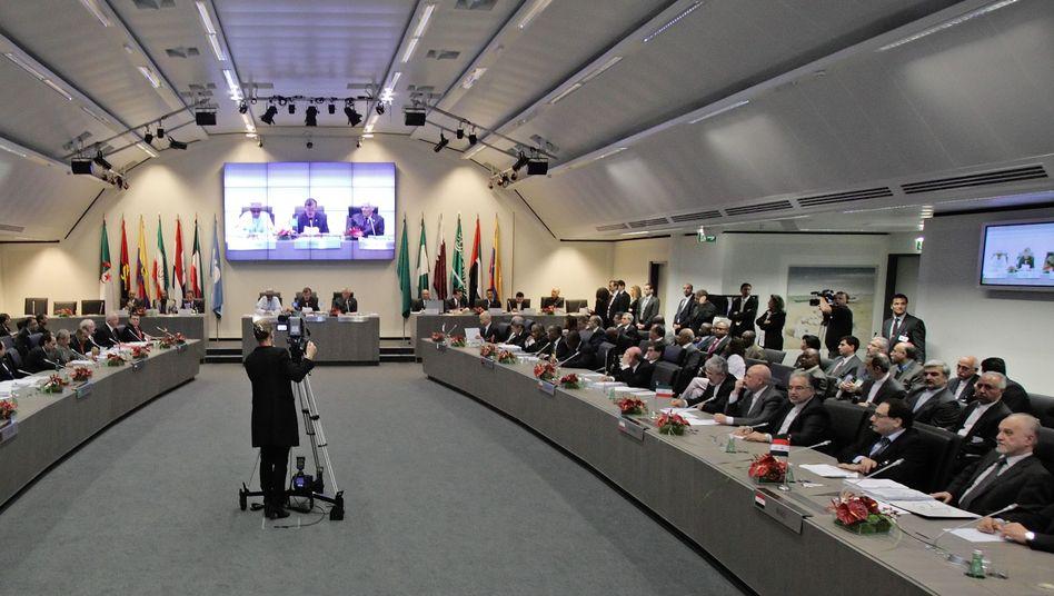 An OPEC press conference in Vienna, Austria, in 2010