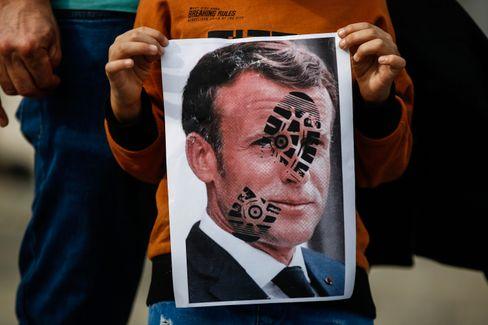 Protest gegen Macron in Istanbul