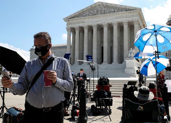 Finale der Gerichtssaison: Reporter am Donnerstag vor dem Supreme Court