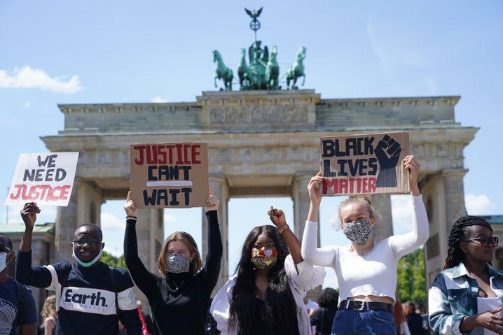 Protest vor dem Brandenburger Tor