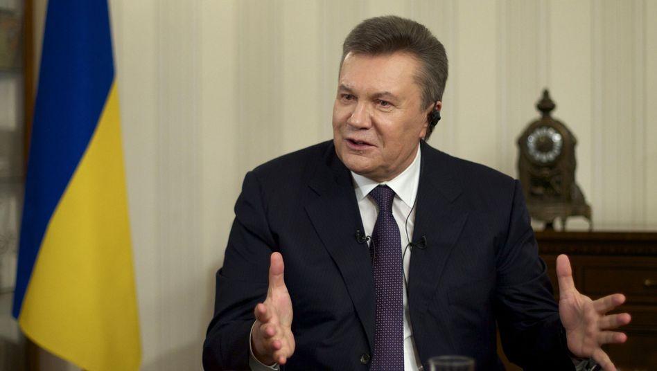 """Abgesetzter Präsident Janukowitsch: """"Ich bin von Banditen angegriffen worden"""""""