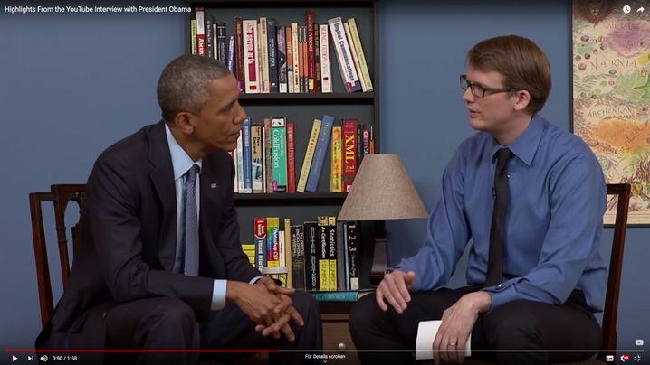 Green mit früherem US-Präsidenten Obama