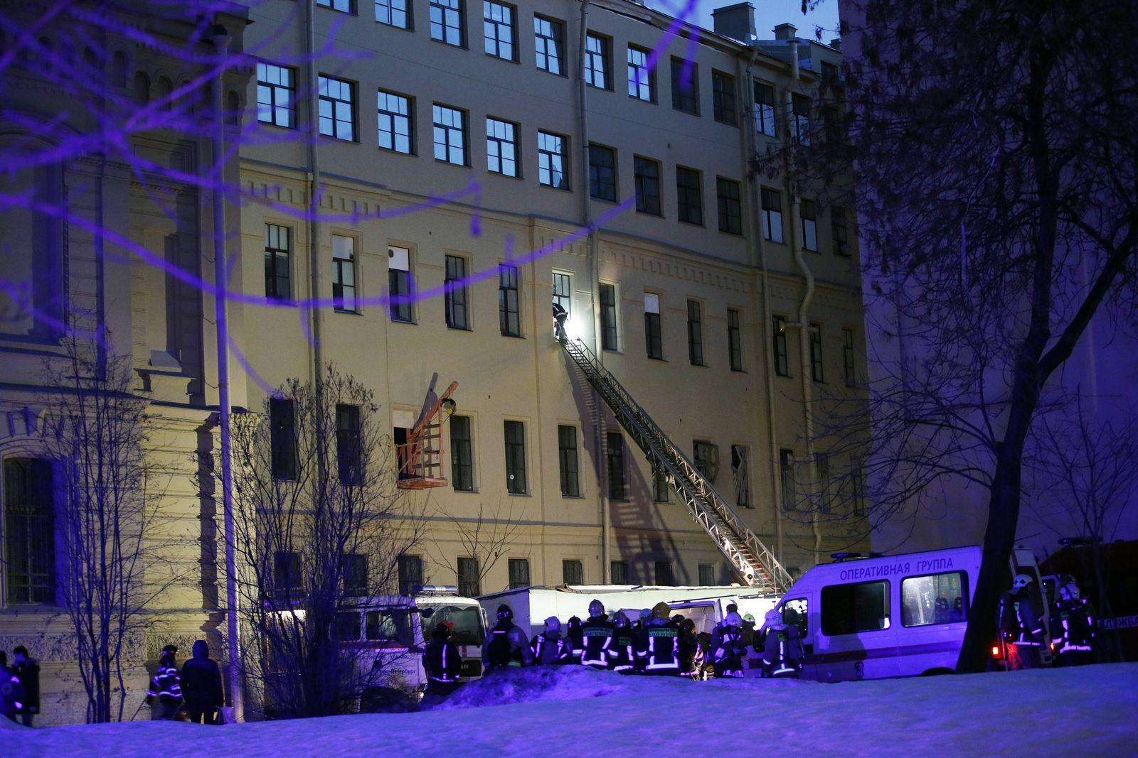 St. Petersburg/ Uni-Gebäude eingestürzt
