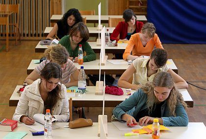 High school students in Bavaria start taking exams this week. Most immigrant students don't get that far in Germany.