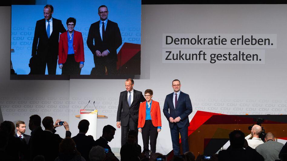 Friedrich Merz, Annegret Kramp-Karrenbauer, Jens Spahn