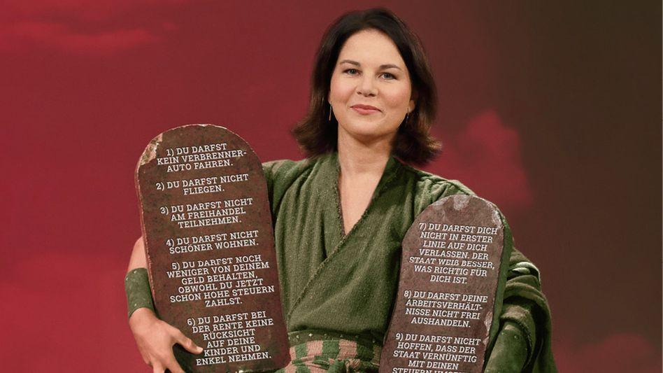 Motiv der Anzeigenkampagne gegen Annalena Baerbock und die Grünen – geschaltet von der lobbyfinanzierten »Initiative Neue Soziale Marktwirtschaft« (INSM)