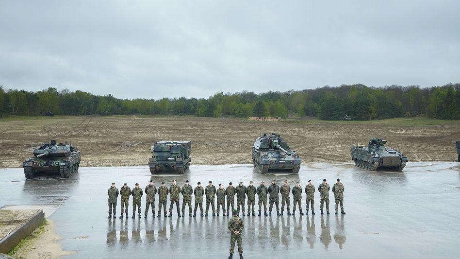 German Bundeswehr soldiers in Münster