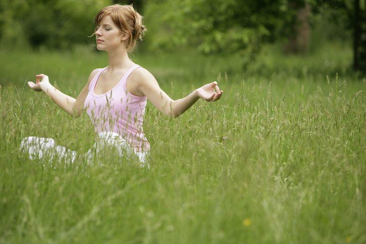 Ommmm: Sie ist mit sich, der Natur und den Schwarzwurzeln im Reinen