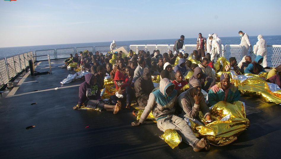 Flüchtlinge aus Nordafrika: Bislang ist die Lage alles andere als dramatisch