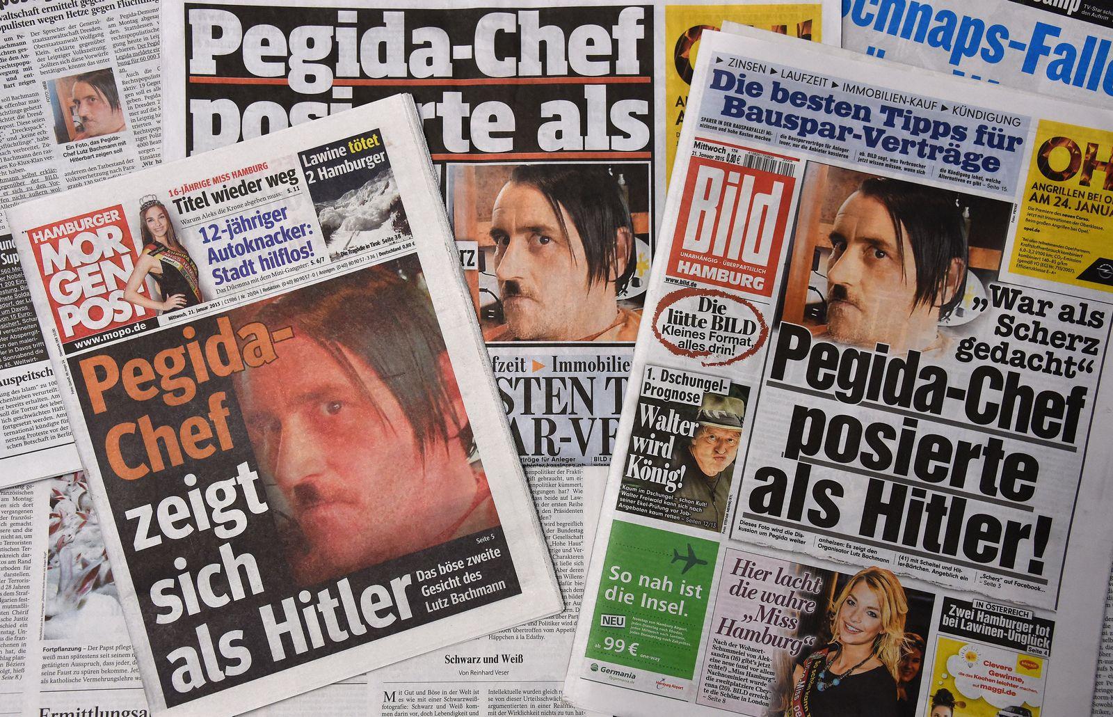 Lutz Bachmann als Hitler