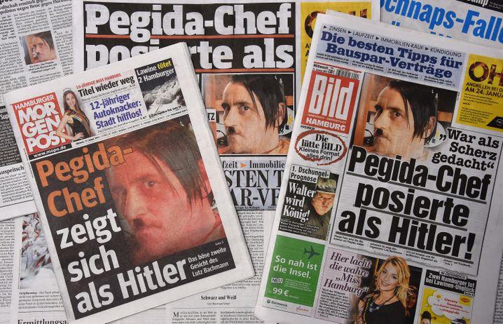 So berichtete die Boulevardpresse über Bachmanns Hitler-Pose