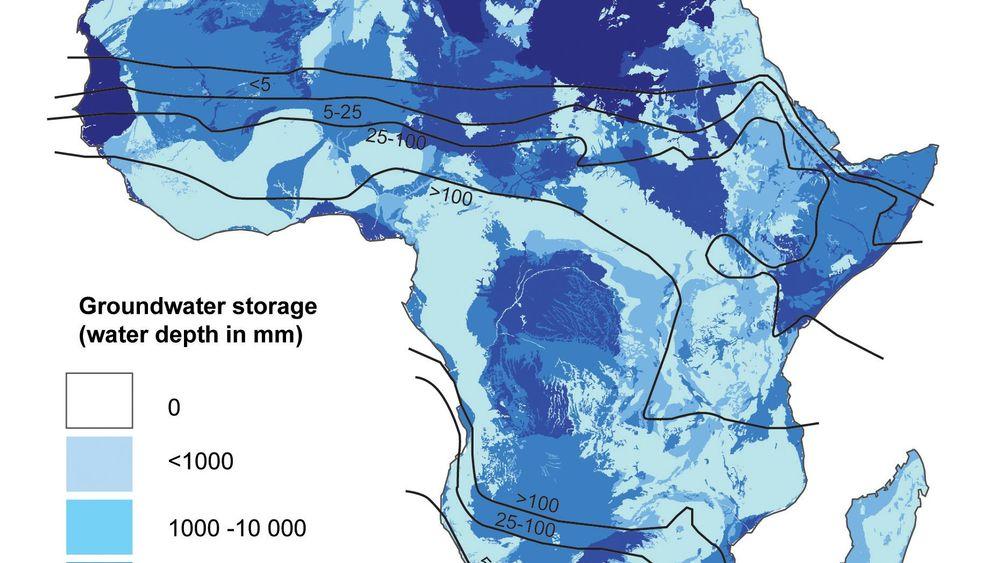 Nasser Schatz: Trinkwasserreserven unter Afrika