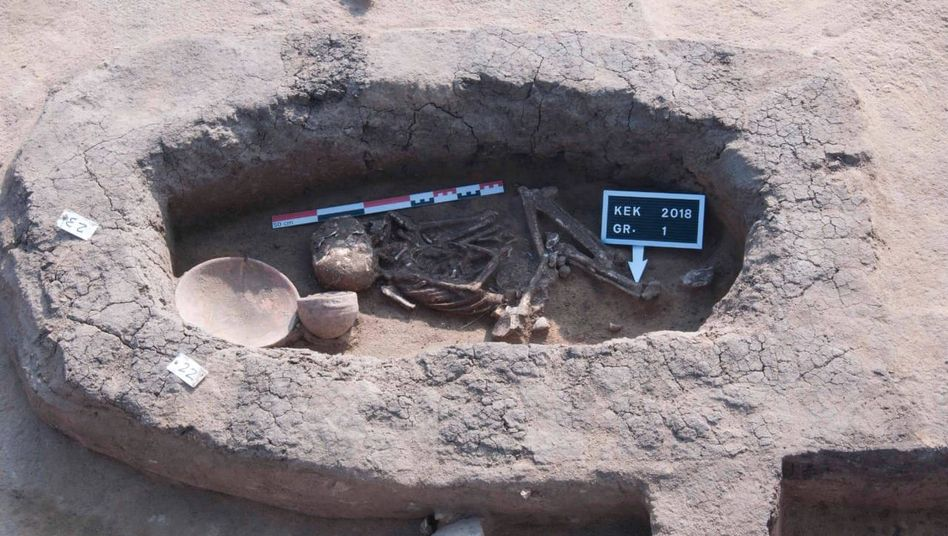 Eine der entdeckten Grabstätten