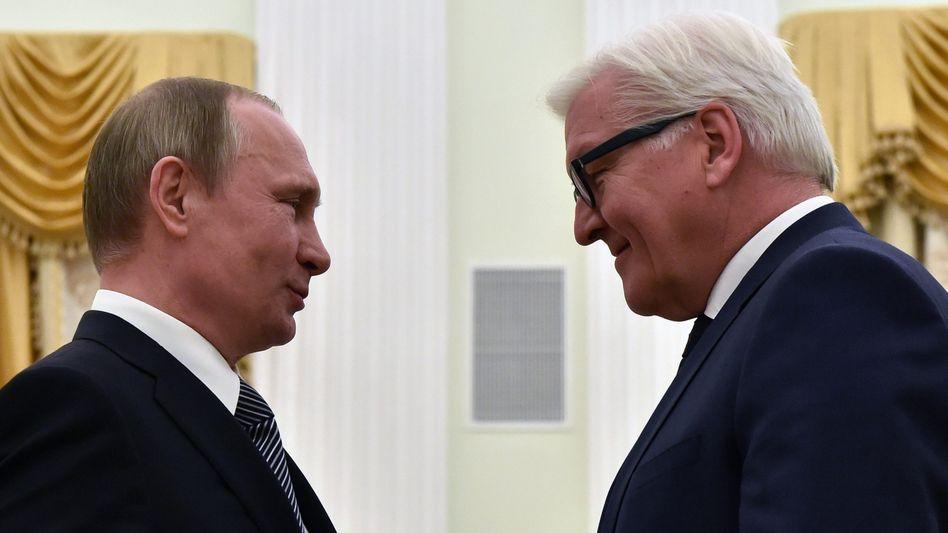 Putin und Steinmeier in Moskau (März 2016)