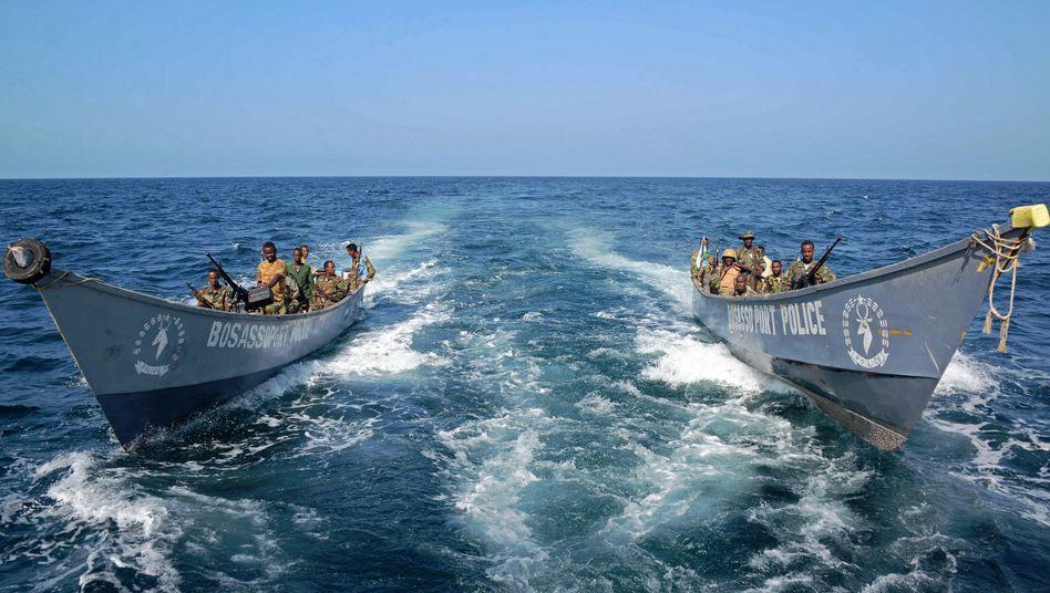Somalische Küstenwache vor Bosaso: An Land duellieren sich Katar und die VAE