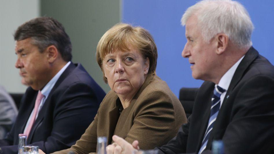 Chancellor Angela Merkel and Bavarian Governor Horst Seehofer