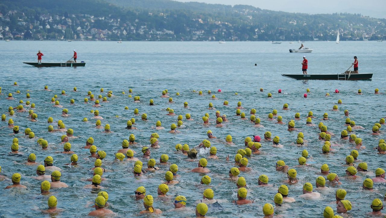 Picture of the Day: Swimmers in Annual Lake Zurich ...