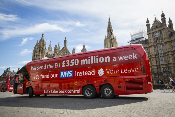 Brexit-Wahlkampfbus in London