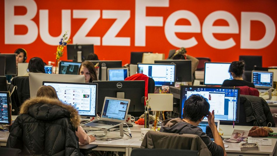 Buzzfeed headquarters in New York. BuzzFeed has come a long way from cat lists.