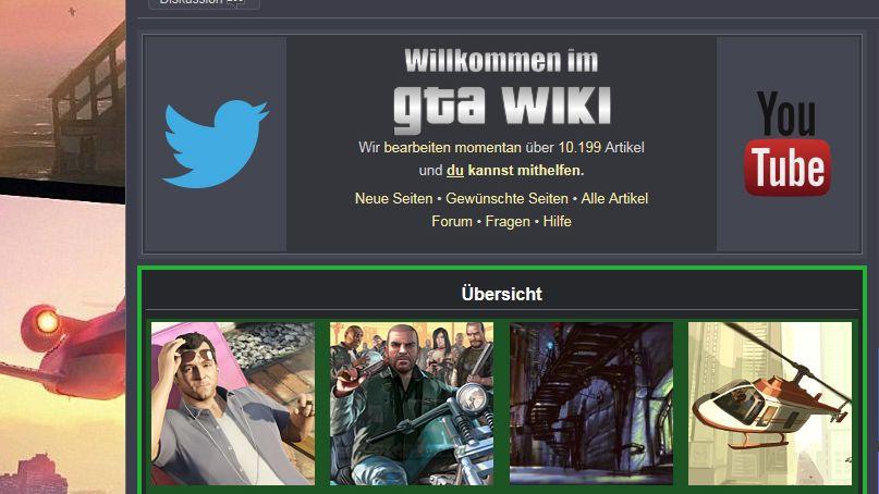 Screenshot des GTA-Wiki: Infos für Fans