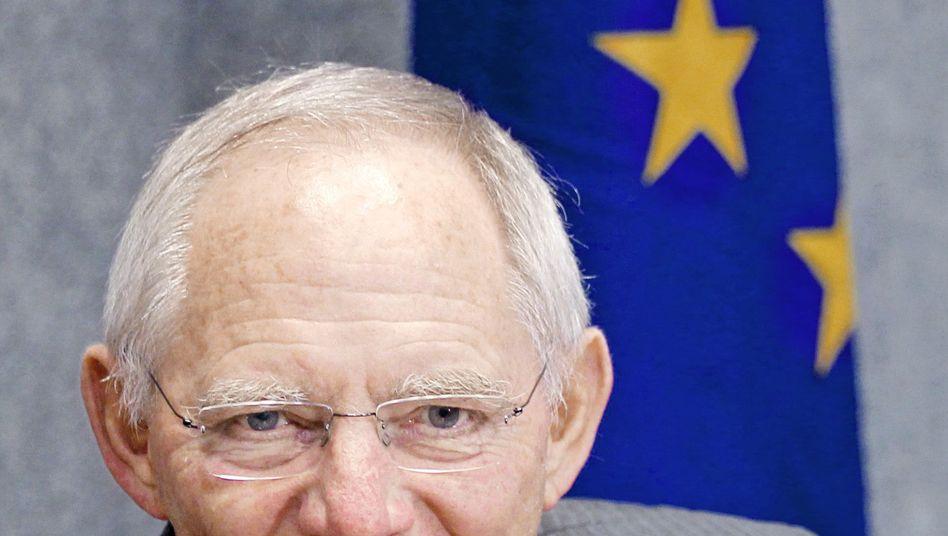 Finanzminister Schäuble: Sparen, sparen, sparen
