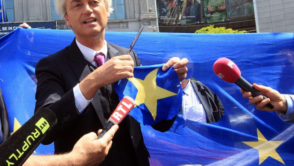 Geert Wilders hofft auf einen Wahlsieg am 15. März