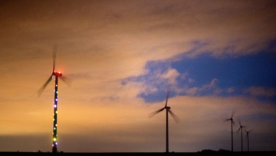 """Windräder in der Region Hannover im Sturmtief """"Sabine"""": 43,7 Gigawatt Windstrom im Netz"""