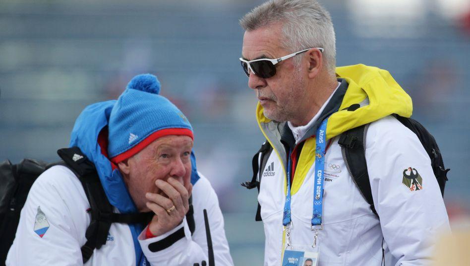 """Biathlon-Coach Pichler (l.): """"Wird immer schwarze Schafe geben"""""""