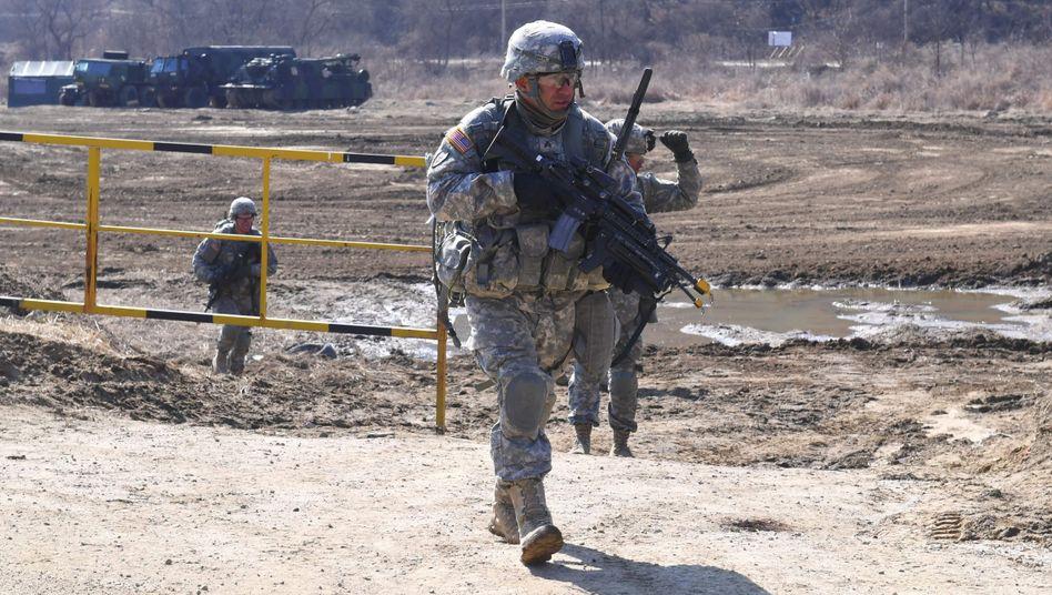 US-Soldaten bei Übung in Südkorea