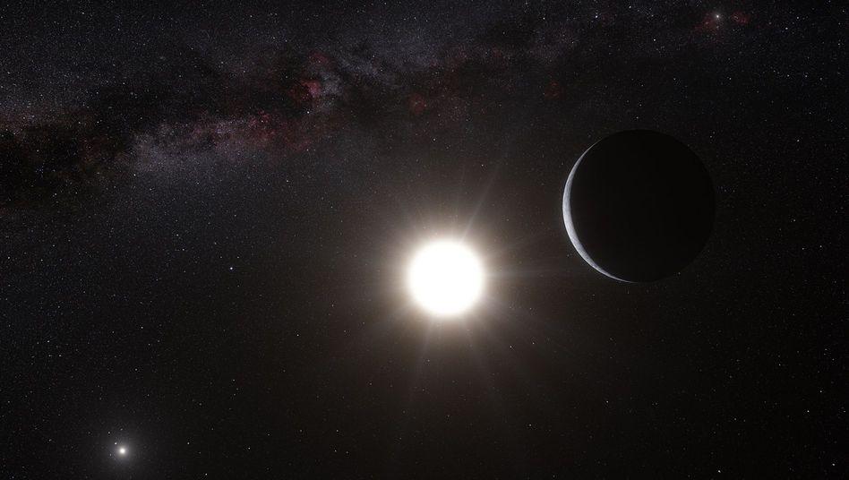 Alpha Centauri B mit Planet: Felsbrocken in unmittelbarer kosmischer Nachbarschaft