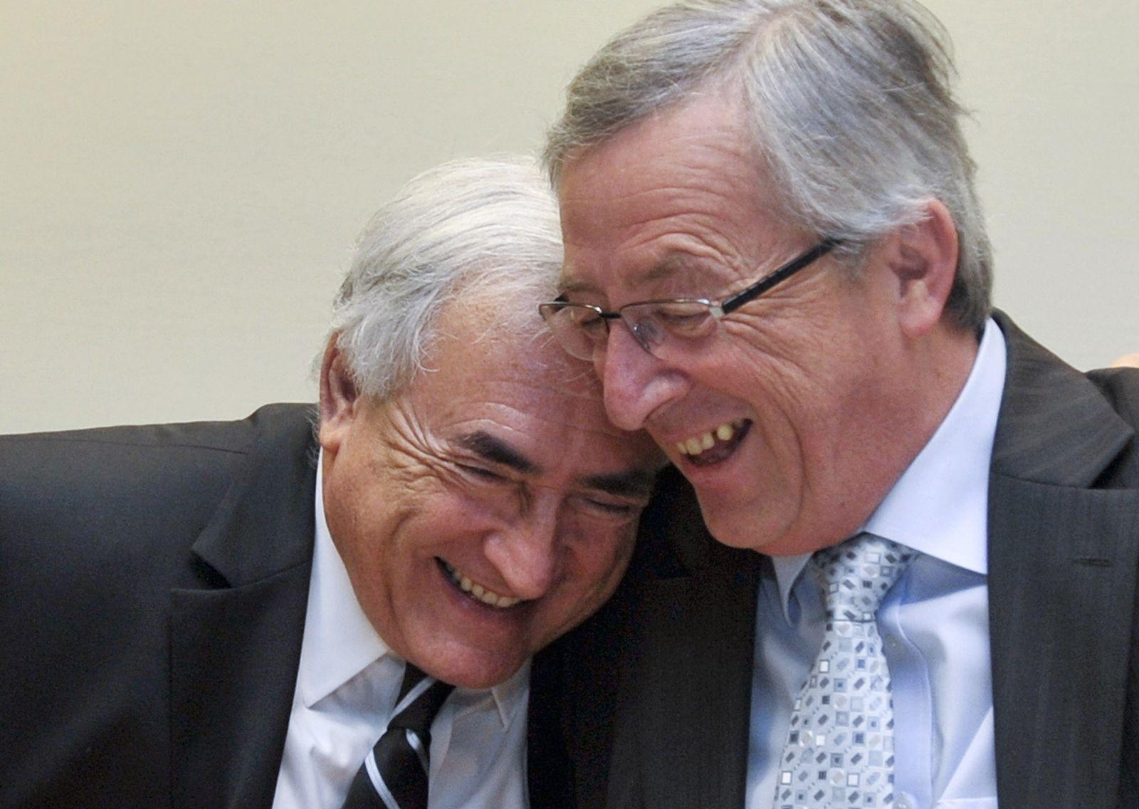 Dominique Strauss-Kahn und Jean-Claude Juncker