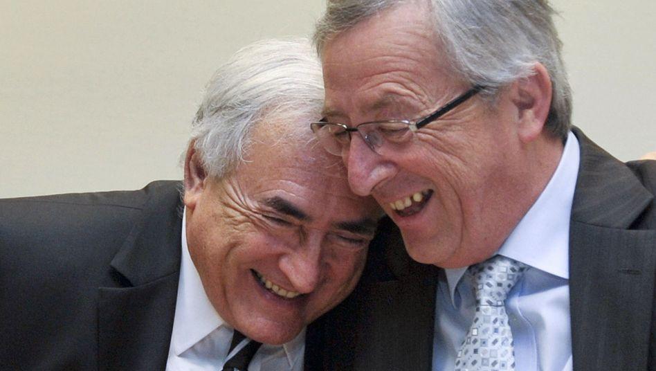 Dominique Strauss-Kahn und Jean-Claude Juncker: Milliardenschwerer Rettungsschirm