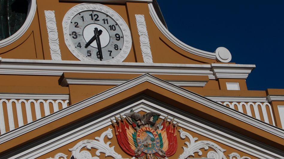 Kongressgebäude in La Paz: Neue Zeitrechnung in Bolivien