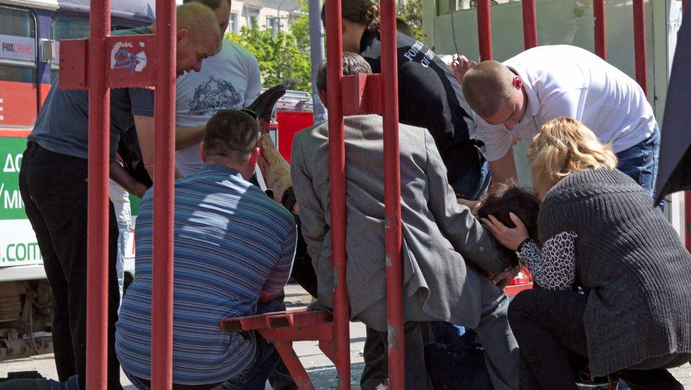 Photo Gallery: Explosions Injure Dozens in Ukraine