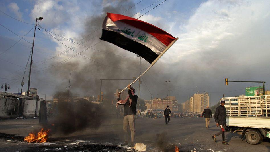 Protest in Bagdad gegen iranische Angriffe: Irak ist Schauplatz der Konfrontation mit den USA