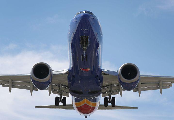 Boeing 737 Max 8 von Southwest bei der Landung