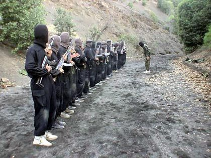 The IJU in training. The group has threatened to launch attacks in other countries.