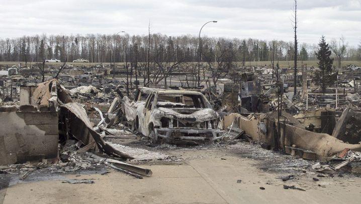 Waldbrände in Fort McMurray: Verwüstete Viertel, intakte Häuser