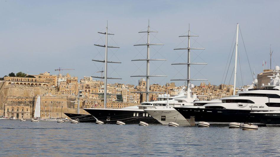 Jachten im Hafen vor Valetta