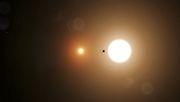 Praktikant entdeckt Planeten, der um zwei Sonnen kreist