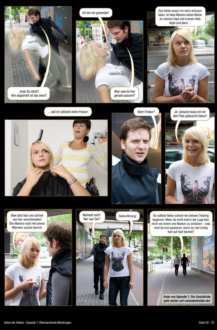 """""""Union der Helden"""": Superheldencomic mit der Anmutung einer Foto-Love-Story"""