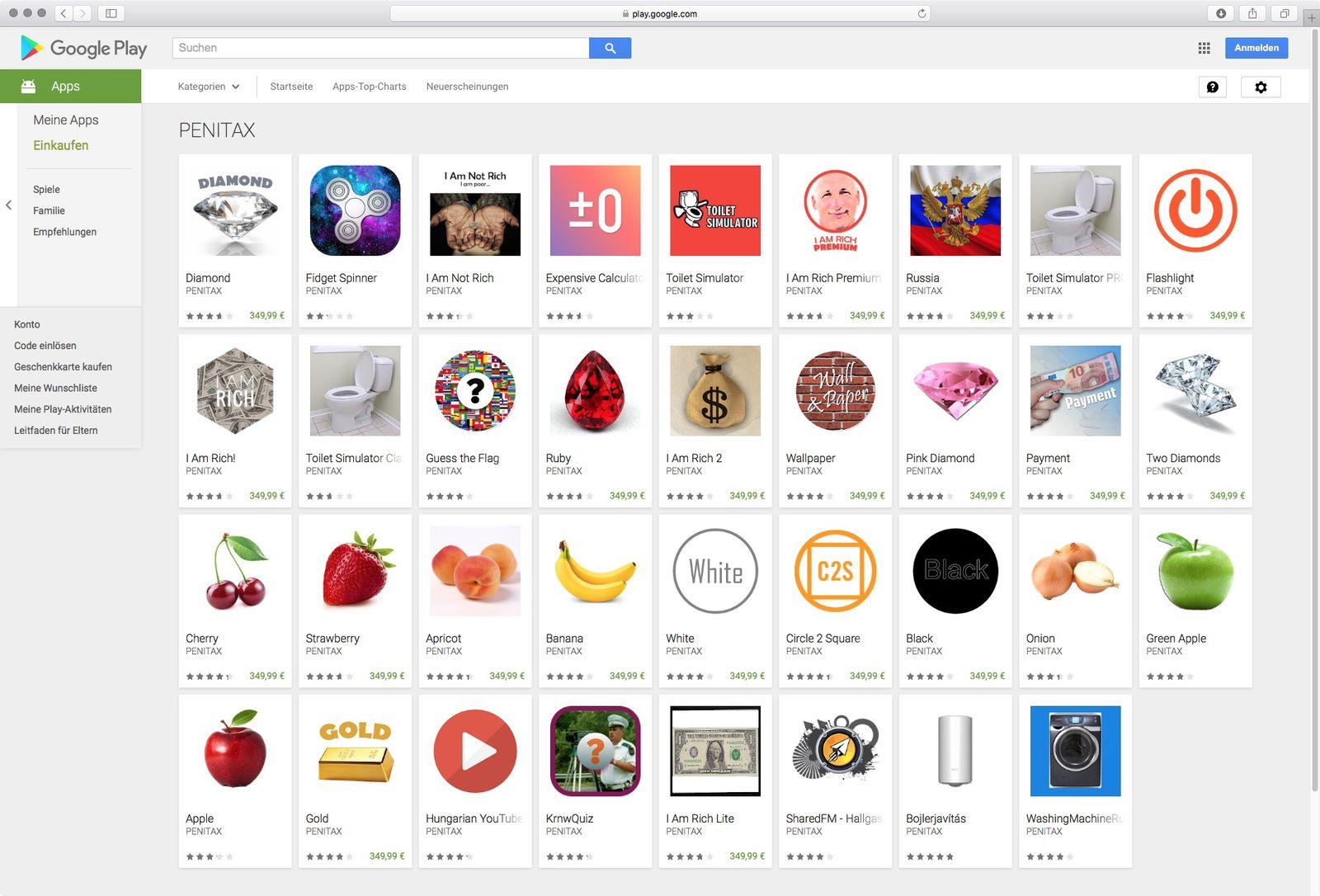 Scherz-Apps/ Google Play Store