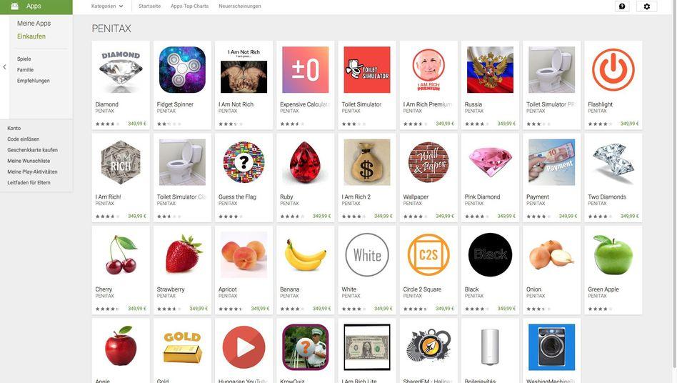 Teure Scherz-Apps im Play Store: Manche dürfen online bleiben.