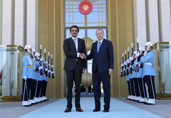 Der Emir von Katar und der türkische Präsident